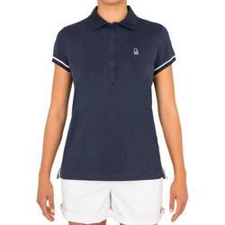 63b5fff3f0 Camiseta Manga Corta Marinera Barco Vela Tribord 100 Mujer Azul Transpirable