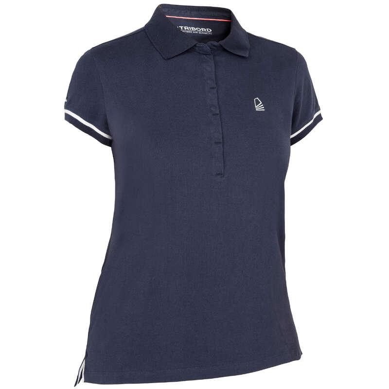Abbigliamento leggero donna Sport Acquatici - Polo donna 100 blu TRIBORD - DONNA VELA