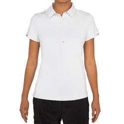 Poloshirt kurzarm Segeln Race Damen weiß