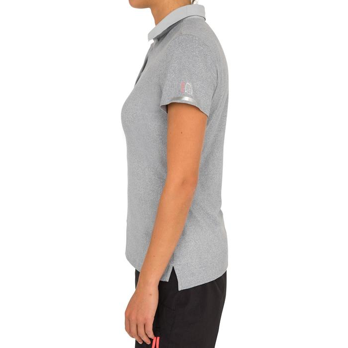 Poloshirt kurzarm Segeln Race Damen grau meliert