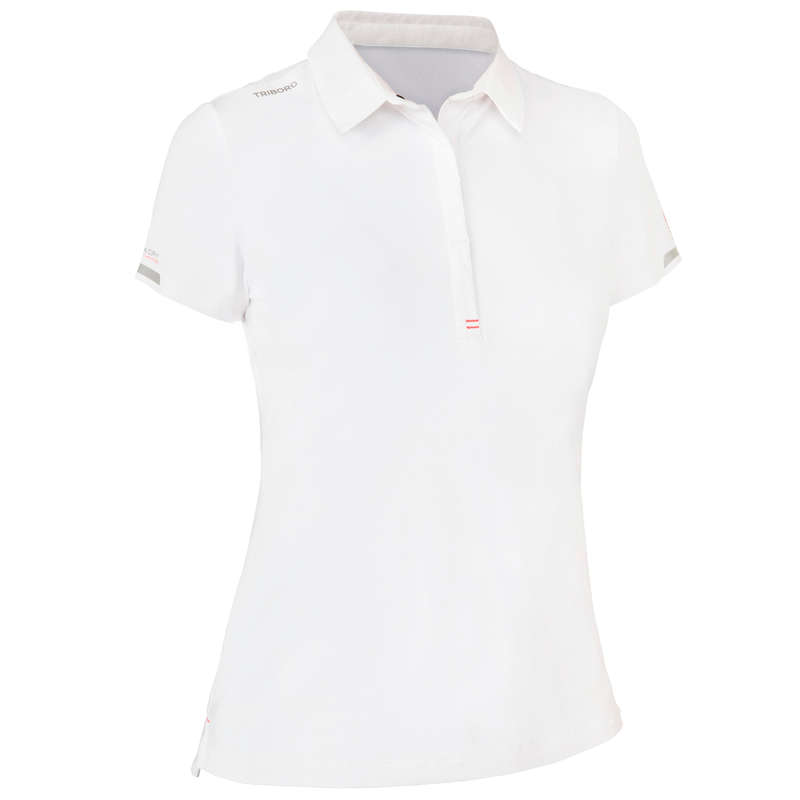 REGATTA WARM WEATHER WOMAN CLOTHES Sailing - Women's Race Polo White TRIBORD - Sailing Clothing