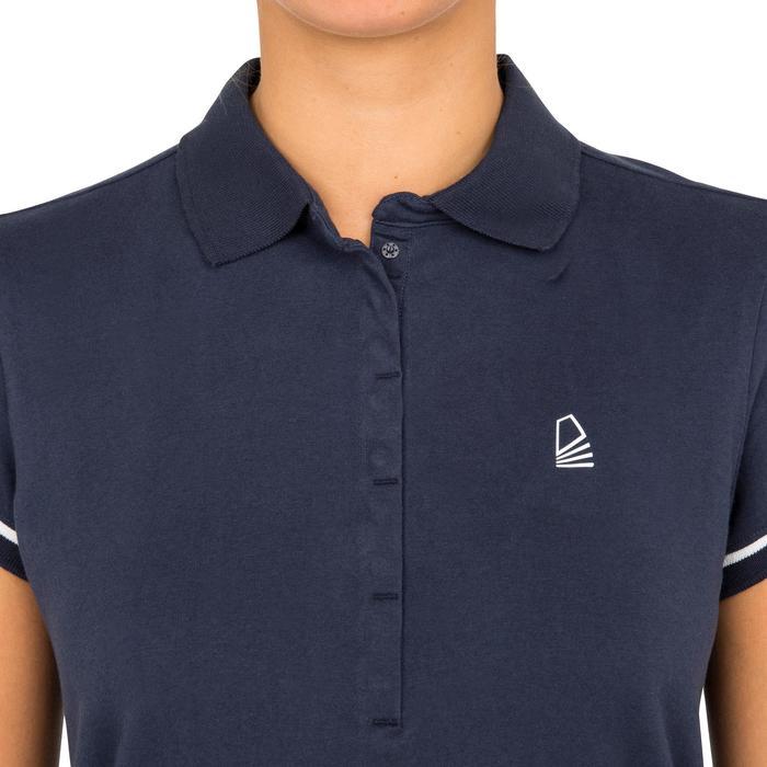 Poloshirt kurzarm Segeln Adventure 100 Damen blau