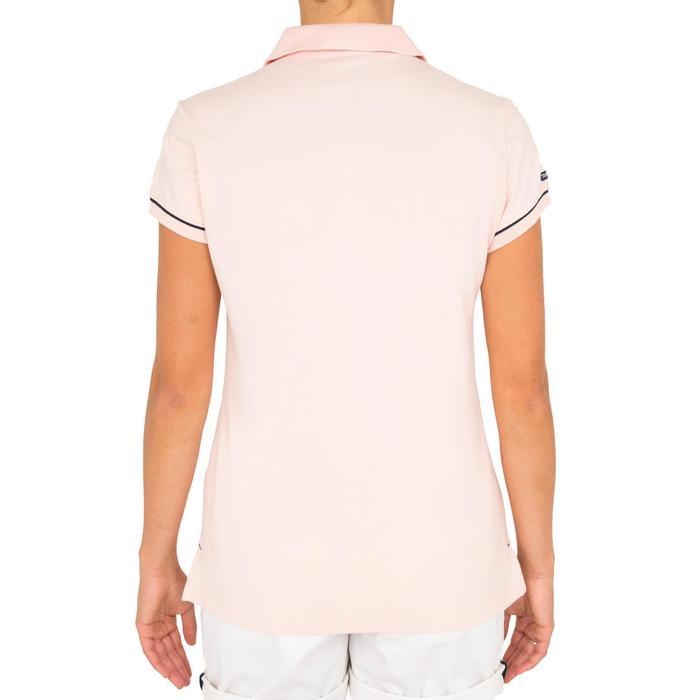 Women's Sailing Short Sleeve Polo Shirt Adventure 100 - Pink CN