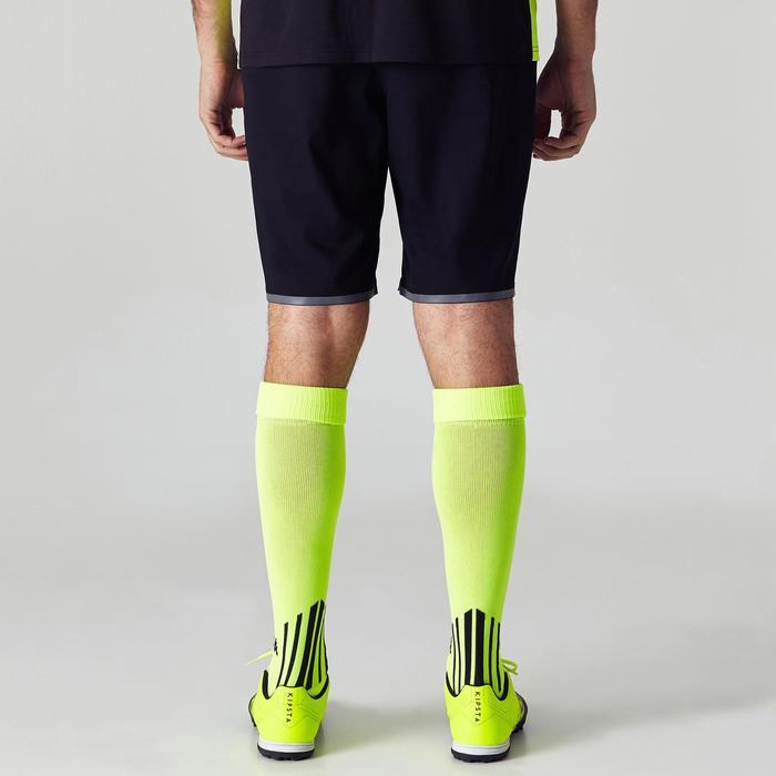 Fußballshorts F500 Erwachsene schwarz/gelb