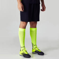F500 Adult Soccer Shorts - Black and Yellow