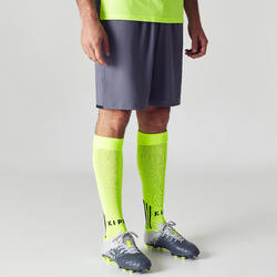 F500 Adult Soccer Shorts - Grey/Yellow
