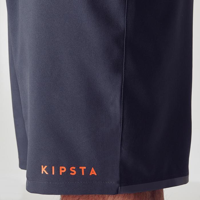 Fußballshorts F500 Erwachsene grau/orange