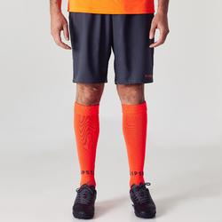 Short de football adulte F500 gris orange