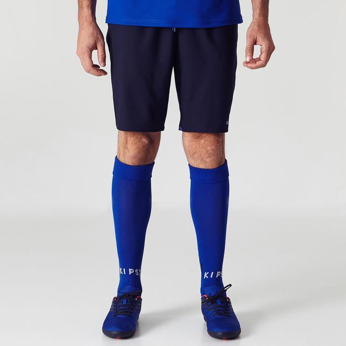 Voetbalshort voor volwassenen F500 marineblauw