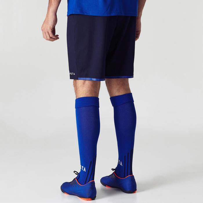 Short de football adulte F500 bleu marine