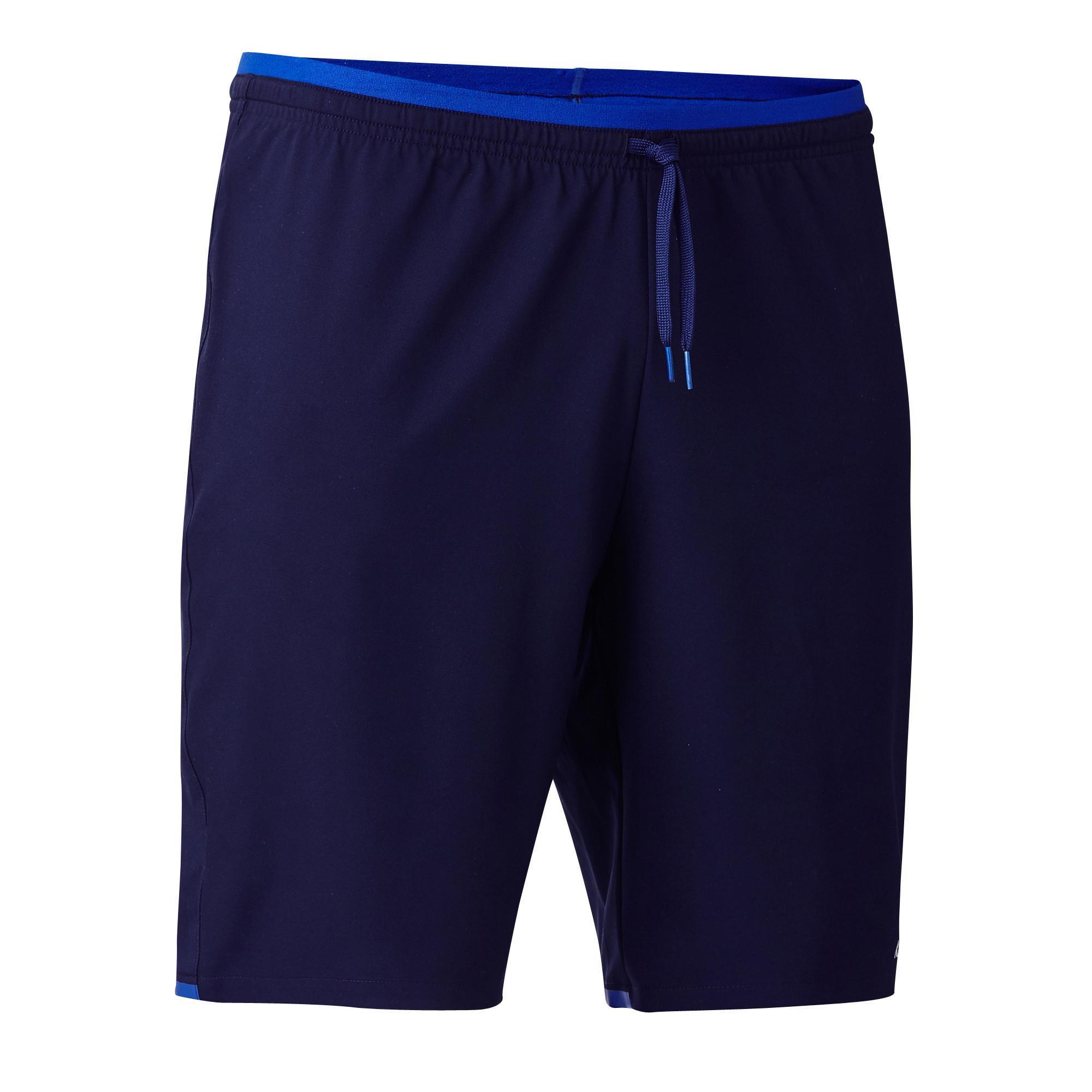 Kipsta Voetbalbroekje F500 marineblauw/blauw