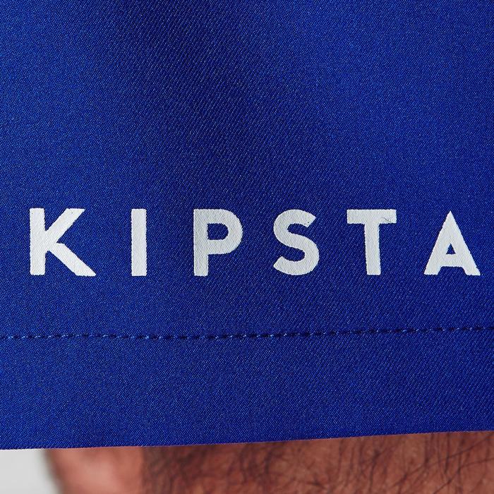 Pantalón corto de fútbol adulto F500 azul naranja