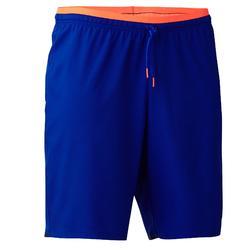 Voetbalshort volwassenen F500 blauw/oranje