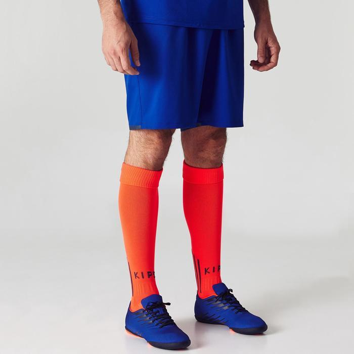 Fußballshorts F500 Erwachsene blau/orange