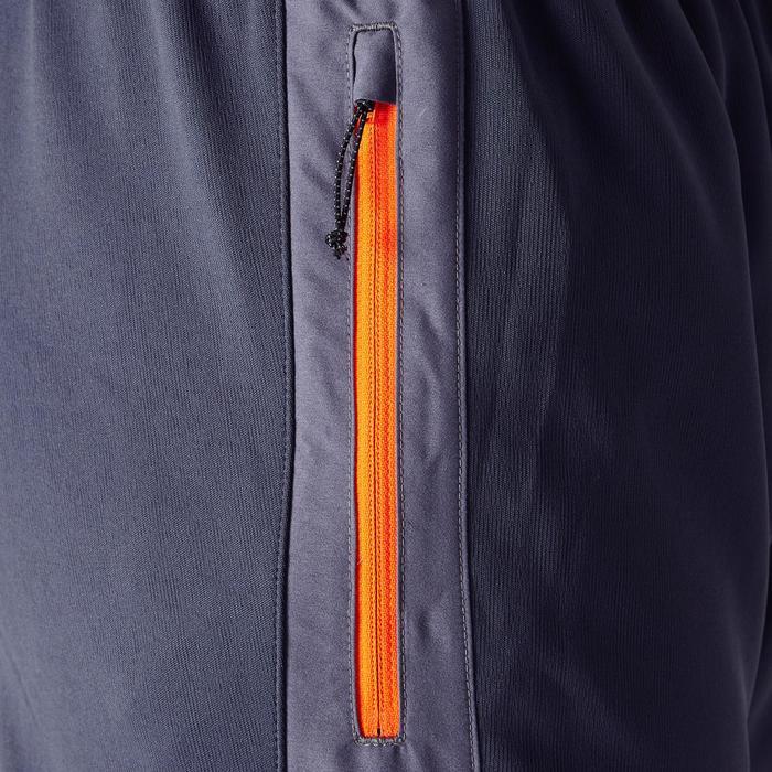 Voetbaltrainingsbroek voor volwassenen T500 grijs oranje