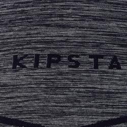 Ondershirt voor voetbal korte mouwen volwassenen Keepdry 500 donkergrijs