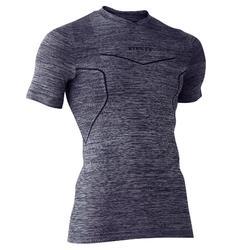 Thermoshirt Keepdry 500 met korte mouwen voor volwassenen gemêleerd grijs