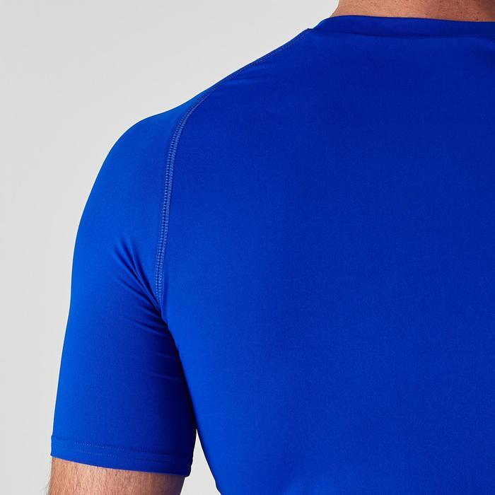 Ademend ondershirt met korte mouwen voor volwassenen Keepdry 100 blauw
