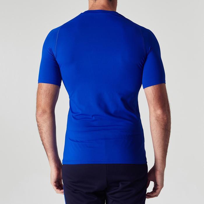 Camiseta Térmica Manga Corta Kipsta KDRY100 Hombre Azul