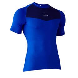 Thermoshirt voor warm weer Keepdry 100 korte mouwen volwassenen blauw
