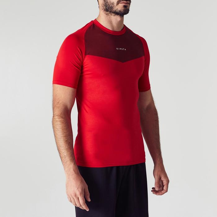 Ademend ondershirt met korte mouwen voor volwassenen Keepdry 100 rood