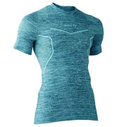 Keepdry 500 Adult Breathable Short-Sleeved Base Layer - Heathered Dark Green