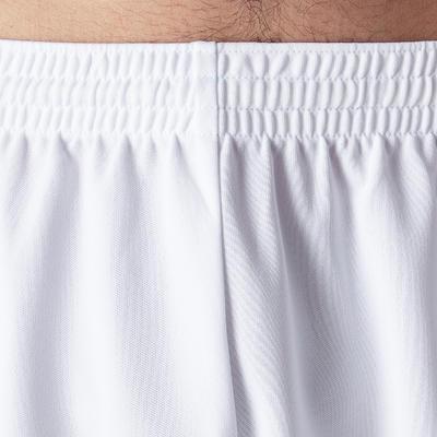Pantaloneta de fútbol adulto F300 blanco