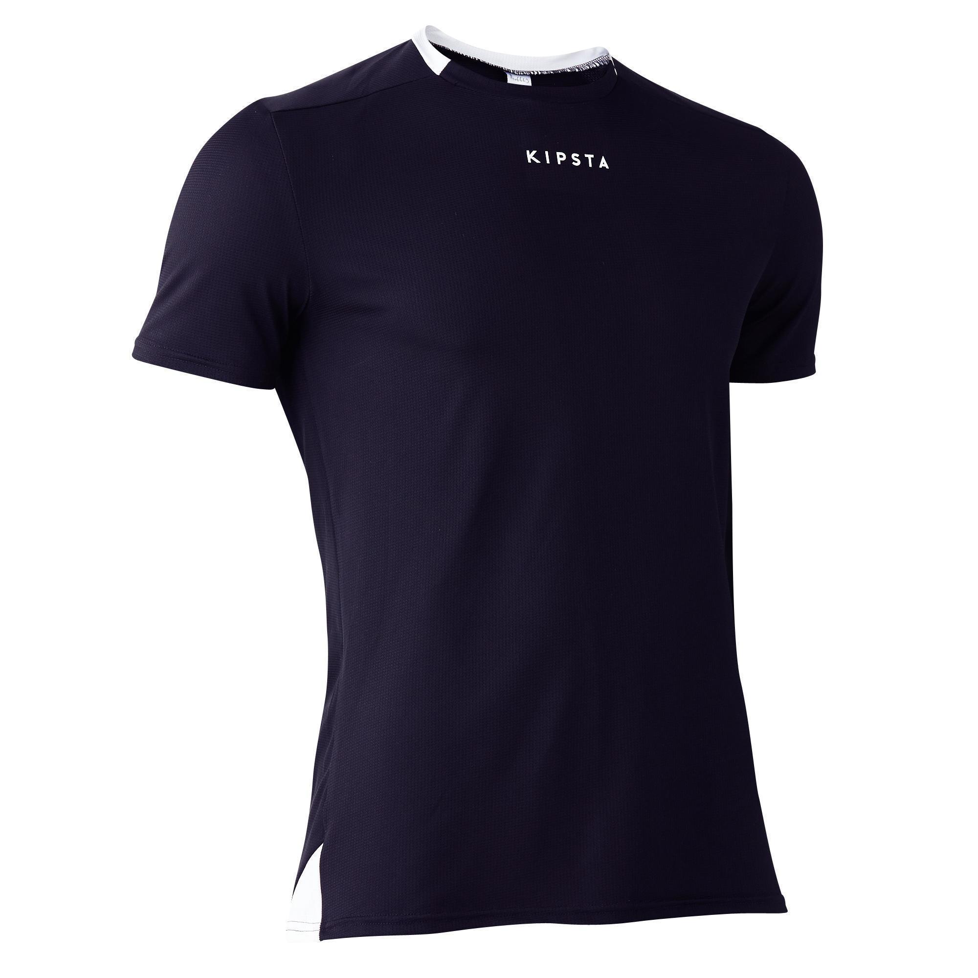 Kipsta Voetbalshirt F100 voor volwassenen zwart