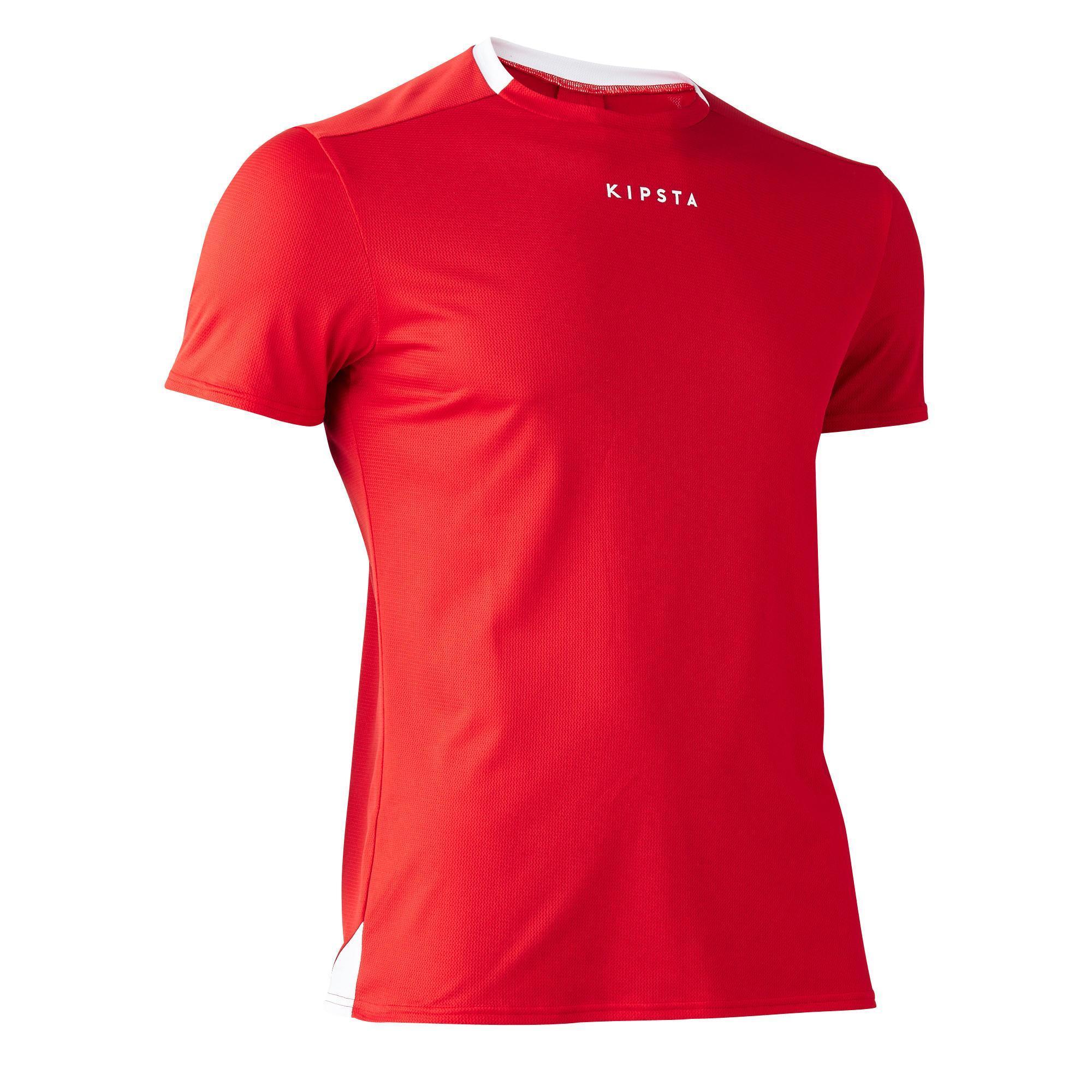 Kipsta Voetbalshirt F100 voor volwassenen rood