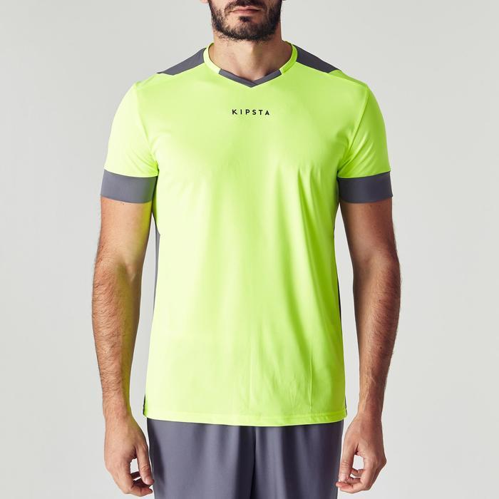 Camiseta de fútbol adulto F500 amarillo