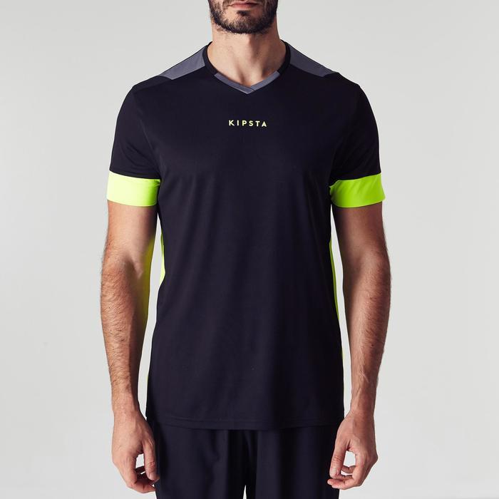 Camiseta de fútbol adulto F500 negro