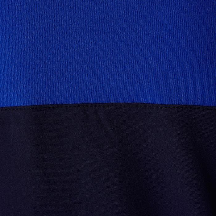 Sweat 1/2 zip d'entrainement de football adulte T500 bleu