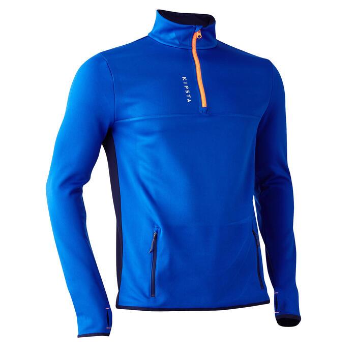 Sweat 1/2 zip d'entrainement de football adulte T500 - 1266061