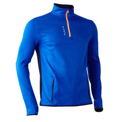 T500 Adult Soccer Training Half-Zipper Sweatshirt - Blue