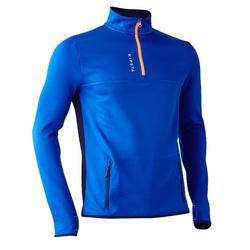 Sweat d'entrainement 1/2 zip de football adulte T500