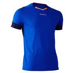 成人款美式足球短袖上衣F500-藍色