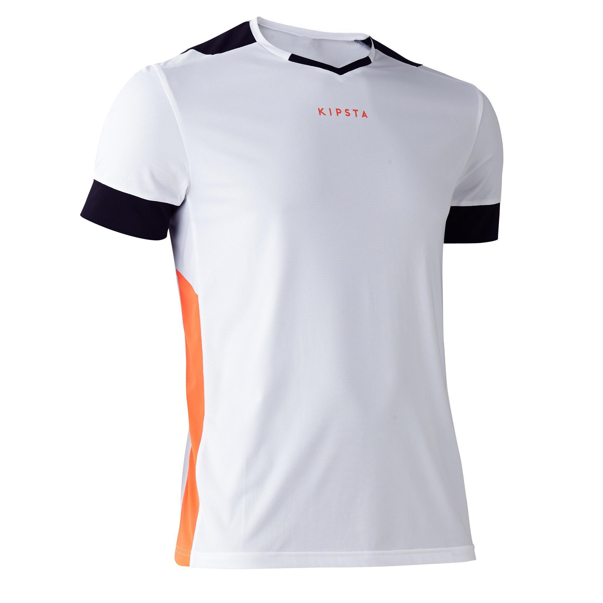 Fußballtrikot F500 Erwachsene weiß | Sportbekleidung > Trikots | Orange | Trikot | Kipsta
