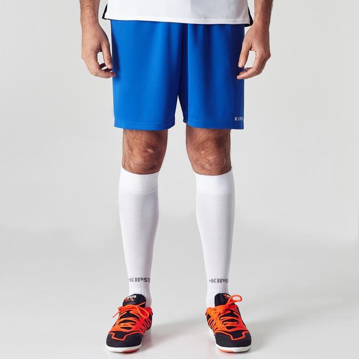 Pantalón corto de fútbol adulto F100 azul