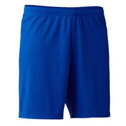 Voetbalshort F100 voor volwassenen blauw
