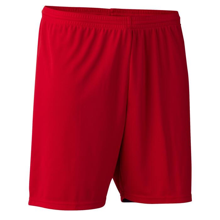 Fußballshorts F100 Erwachsene rot