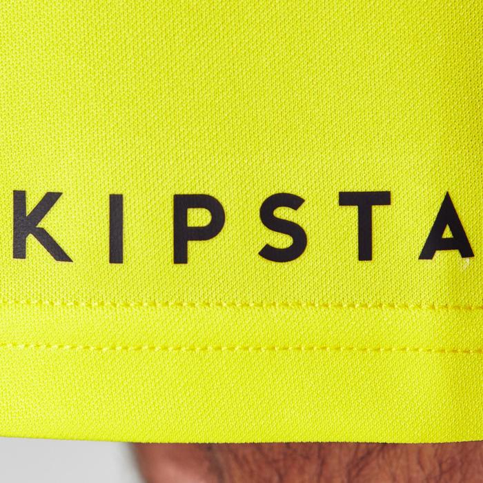 Pantalón corto de Fútbol adulto Kipsta F100 amarillo
