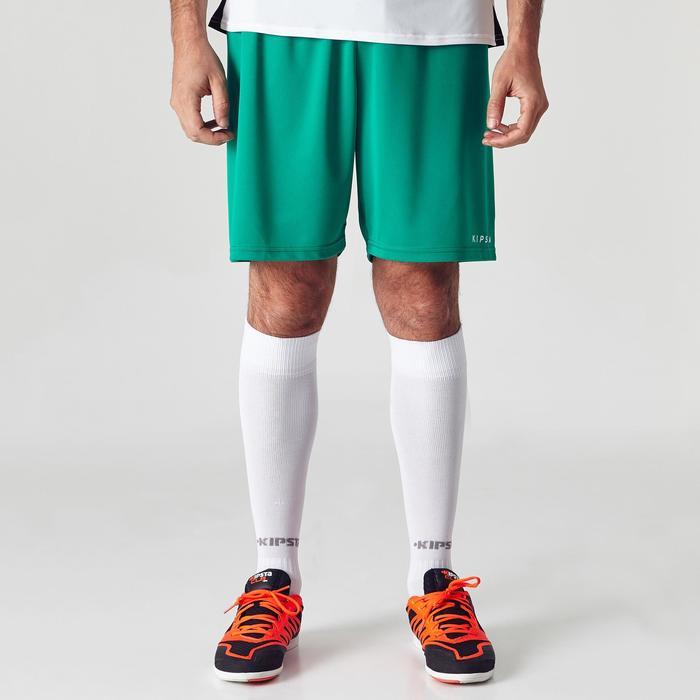 Fußballshorts F100 Erwachsene grün