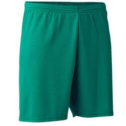 Voetbalshort F100 volwassenen groen
