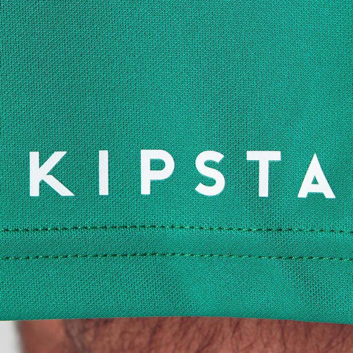 Pantalón corto de Fútbol adulto Kipsta F100 verde