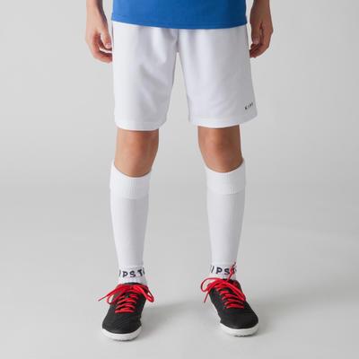 מכנסי כדורגל קצרים לילדים F100 - לבן