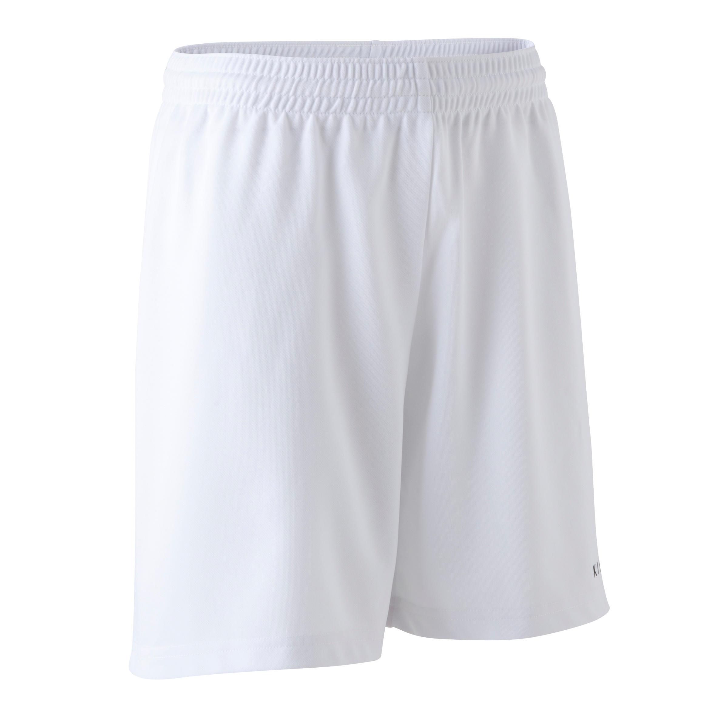 Short de futbol niños F300 blanco
