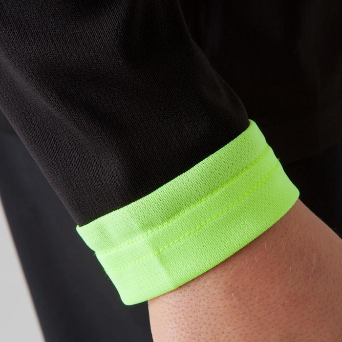 Voetbalshirt met lange mouwen voor kinderen F500 zwart