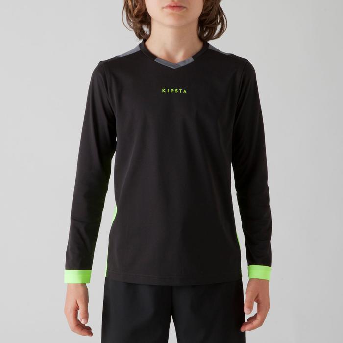 Maillot de football manches longues enfant F500 noir - 1266190
