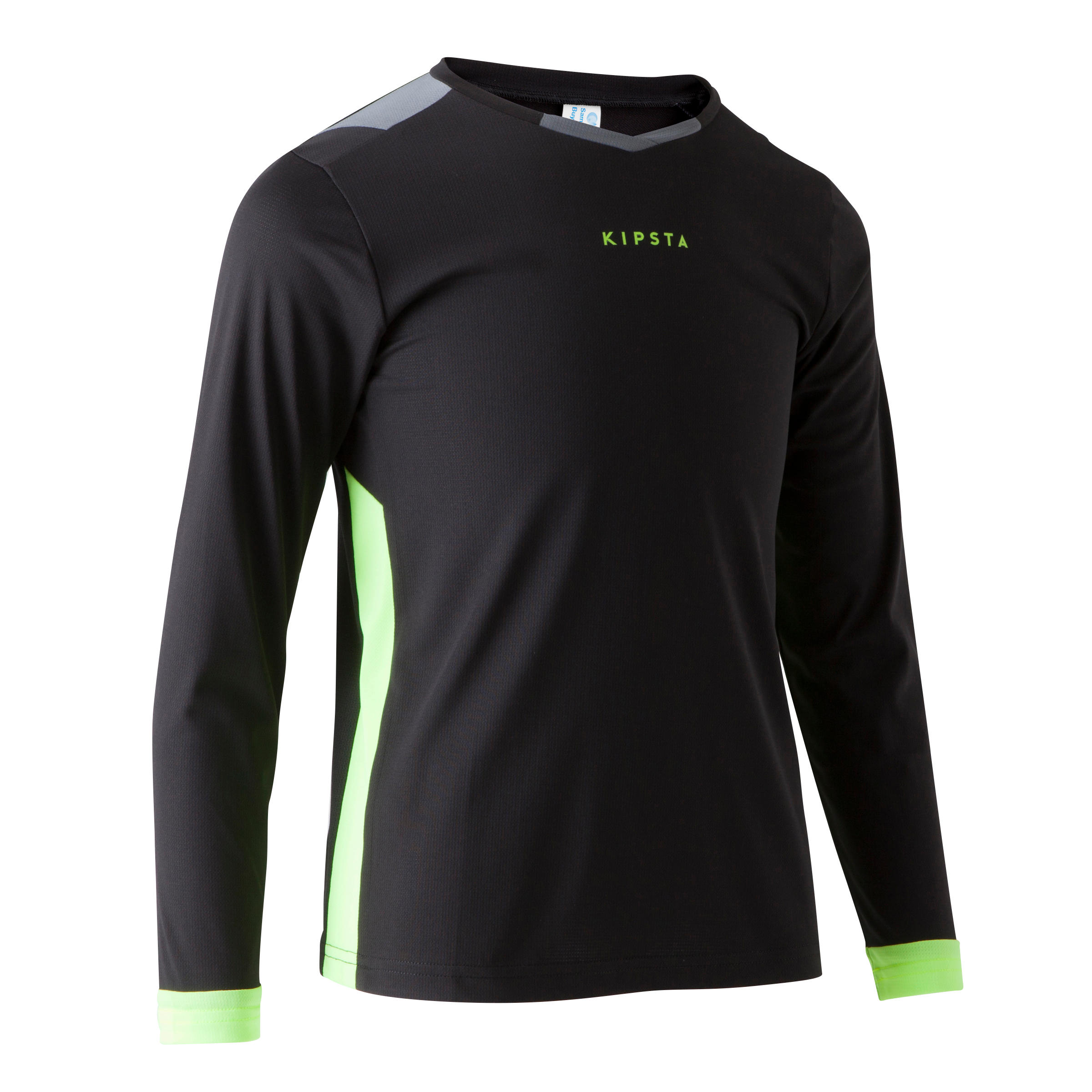 F500 Kids' Long-Sleeved Soccer Jersey - Black