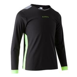 Voetbalshirt kind F500 met lange mouwen zwart